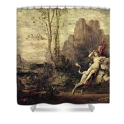 The Rape Of Europa Shower Curtain by Gustave Moreau