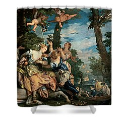 The Rape Of Europa Shower Curtain by Veronese