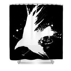 The Raven IIl Shower Curtain