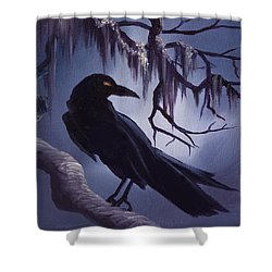 The Raven Shower Curtain by James Christopher Hill