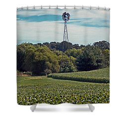 The Real Greening Shower Curtain by Skip Willits