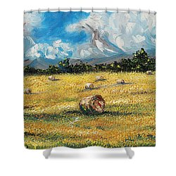 The Reaping Shower Curtain by Meaghan Troup