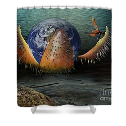 The Rebirth Of The Earth Shower Curtain by Yvonne Wright