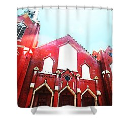 The Red Church By Sharon Cummings Shower Curtain by Sharon Cummings