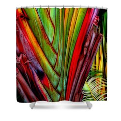 The Red Jungle Shower Curtain by Joseph J Stevens