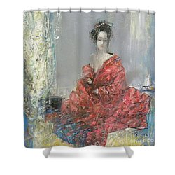 The Red Kimono Shower Curtain