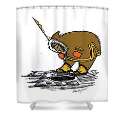 The Red Mittens Shower Curtain