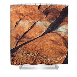 The Red Planet Shower Curtain by Barbara McMahon