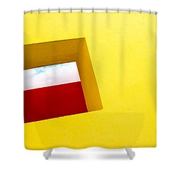 the Red Rectangle Shower Curtain