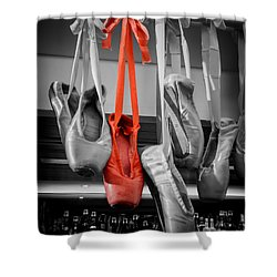 The Red Slipper Shower Curtain