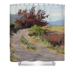 The Red Tree Shower Curtain