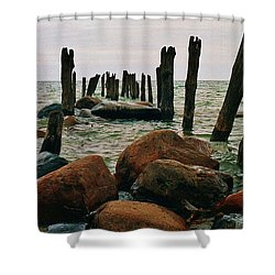 Shower Curtain featuring the photograph The Remains by Daniel Thompson
