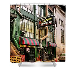 The Rendezvous Shower Curtain by Paul Mashburn