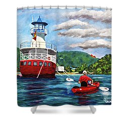 Out Kayaking Shower Curtain