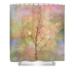 The Restlessness Of Springtime Rest Shower Curtain by Angela A Stanton