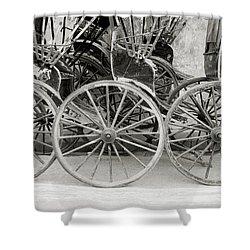 The Rickshaws Shower Curtain