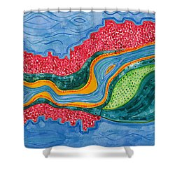 The Riffles Original Painting Shower Curtain