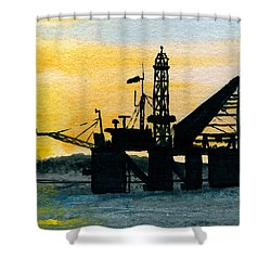 The Rig Shower Curtain