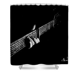 The Right Chord Shower Curtain by Kayleigh Semeniuk