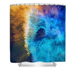 The Right Direction - Abstract Art By Sharon Cummings Shower Curtain by Sharon Cummings