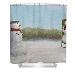 The Right Mirror Shower Curtain