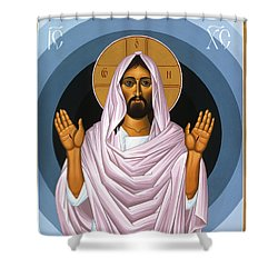 The Risen Christ 014 Shower Curtain by William Hart McNichols