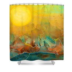 The Rising Sun Shower Curtain by Sandi OReilly