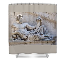 The Tiber Shower Curtain by Ellen Henneke