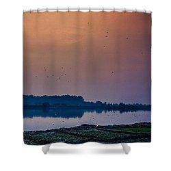 The River, New Delhi Shower Curtain