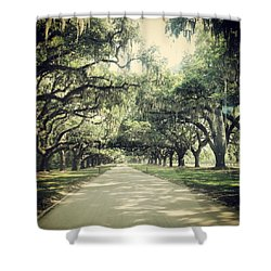 The Road From Boone Hall Shower Curtain