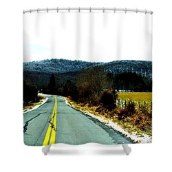 Shower Curtain featuring the photograph The Road Home by Carlee Ojeda