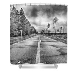 The Road Less Traveled Shower Curtain by Howard Salmon