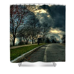 The Road Shower Curtain by Tim Buisman