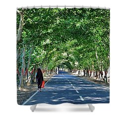 The Road To Amarkantak - Amarkantak India Shower Curtain by Kim Bemis