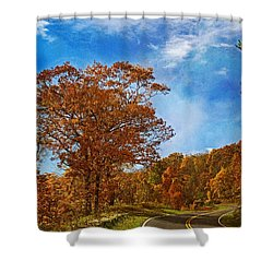 The Road To Autumn Shower Curtain by Kim Hojnacki