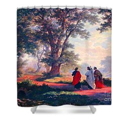 The Road To Emmaus Shower Curtain