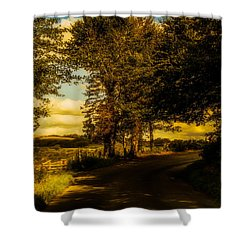 Shower Curtain featuring the photograph The Road To Litlington by Chris Lord