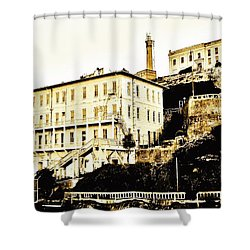 The Rock Shower Curtain by Benjamin Yeager