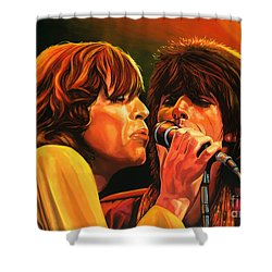 The Rolling Stones Shower Curtain by Paul Meijering