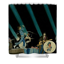 The Rolling Stones - Rip This Joint Shower Curtain by Sean Connolly