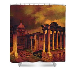 The Roman Forum Shower Curtain by Blue Sky