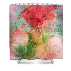 The Romance Of Roses Shower Curtain