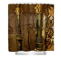 The Room Of Gears Shower Curtain by James Christopher Hill