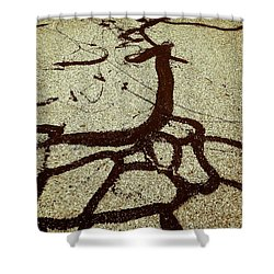The Roots Shower Curtain by Fei A