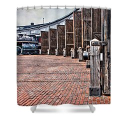 The Roundhouse Shower Curtain by Keith Armstrong