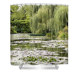 Shower Curtain featuring the photograph The Rowboat by Victoria Harrington