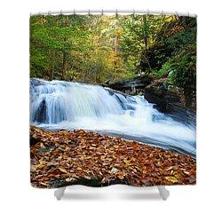 The Rushing Waterfall Shower Curtain