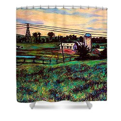 The Rusty Silo Shower Curtain by Kendall Kessler