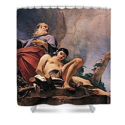 The Sacrifice Of Isaac Shower Curtain by Giovanni Battista Tiepolo