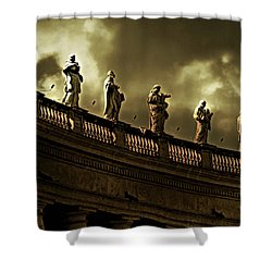 Shower Curtain featuring the photograph The Saints  by Micki Findlay